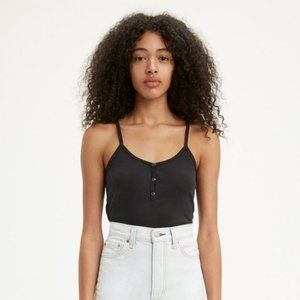 🛍3 for $25 🛍 Levis Tiny Tank with Snaps Black